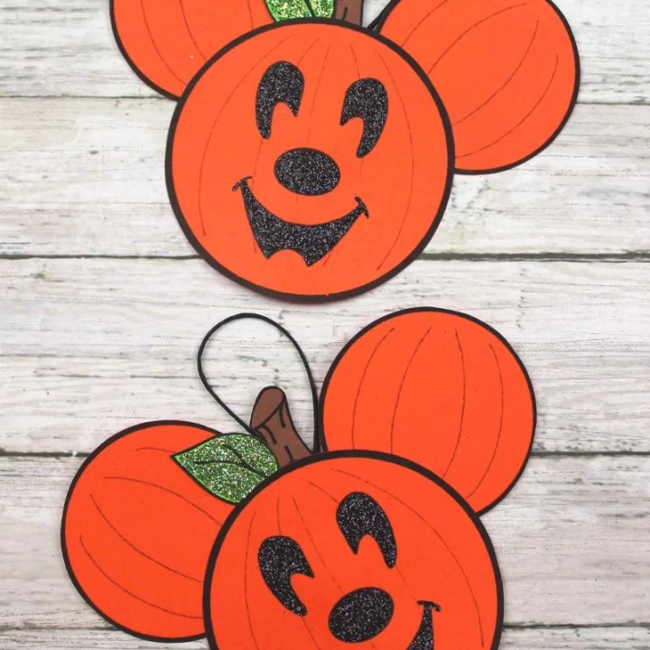 Mickey Mouse Pumpkin Ornament Craft