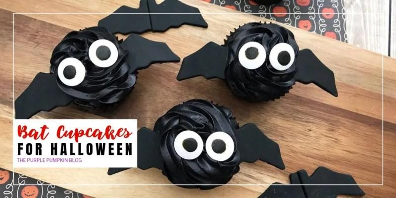 Bat cupcakes for Halloween