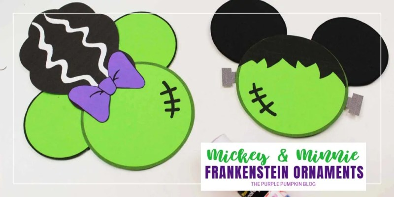 Mickey & Minnie Frankenstein Ornaments
