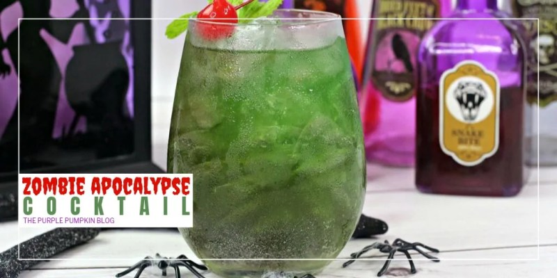 This Zombie Apocalypse Cocktail is vodka-based with tropical flavors. So if you should find yourself stuck on a tropical island when the ZA hits, you'll have the perfect cocktail to drink... but while you're waiting for the zombies to take over, why not make this creepy undead cocktail for Halloween instead?!