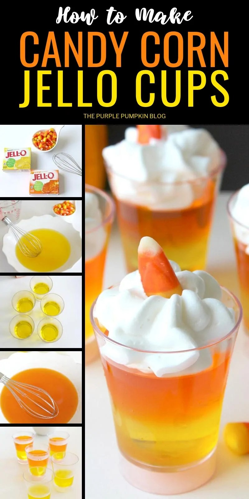 how to make candy corn jello cups