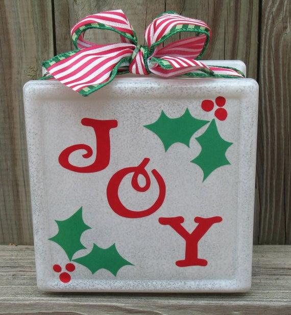 Joy Christmas Block