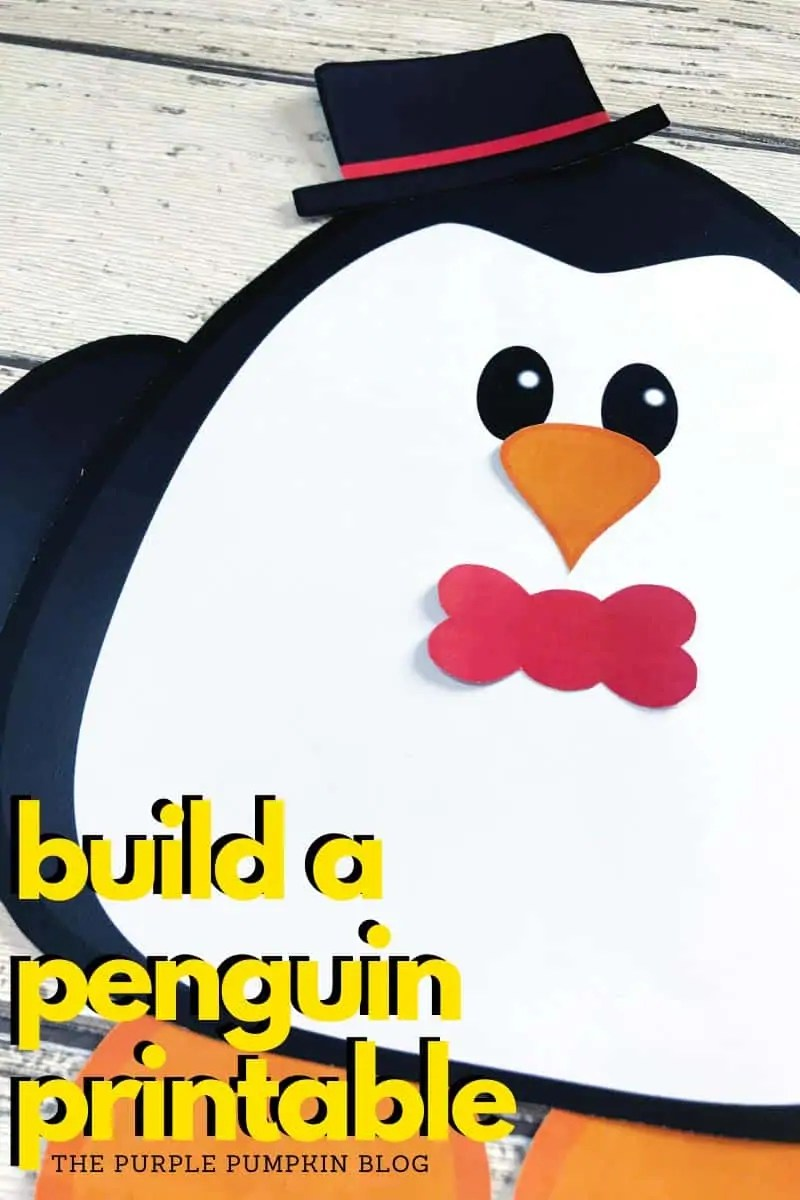 build a penguin printable