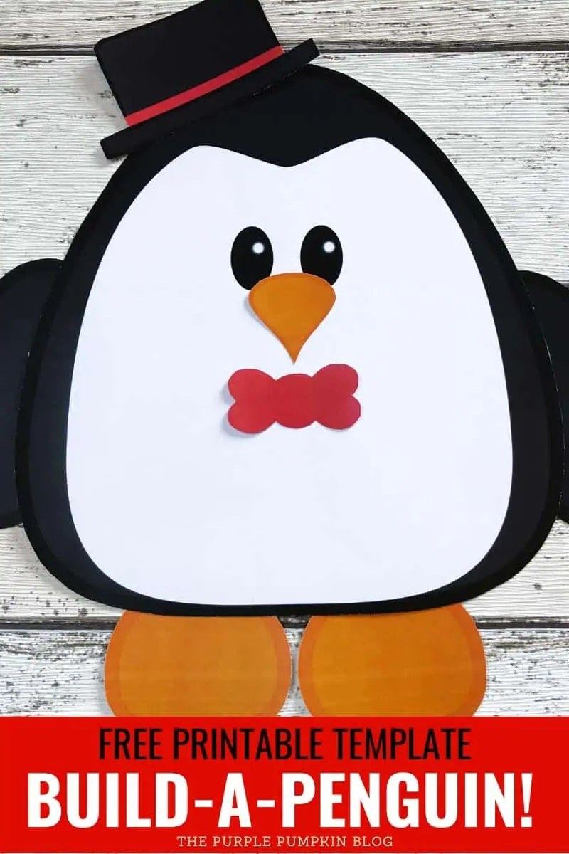 Free printable template - Build-a-penguin!