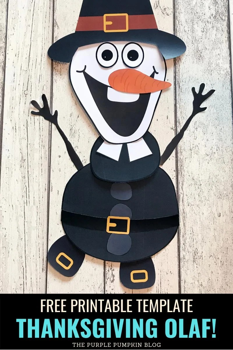 Free Printable Template - Thanksgiving Olaf