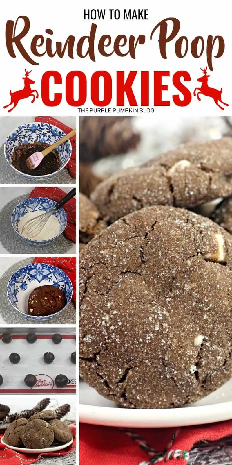 how to make reindeer poop cookies
