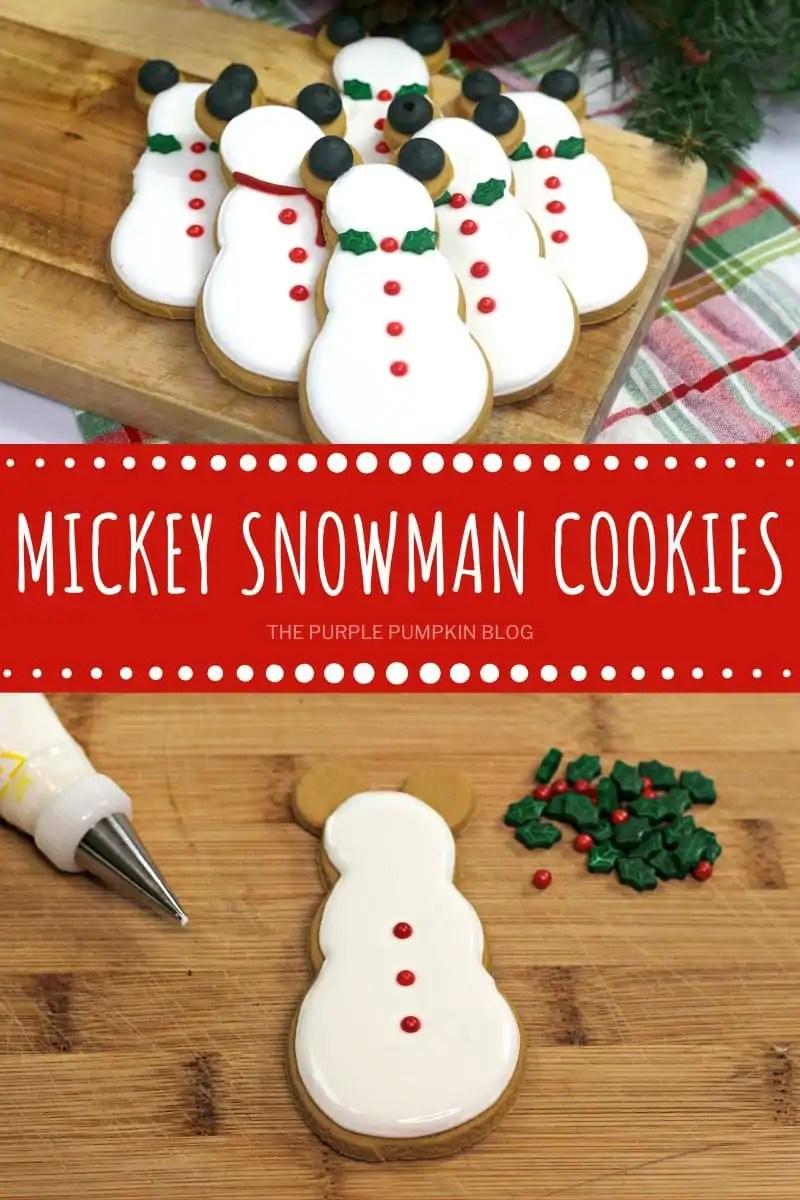 Mickey Snowman Cookies
