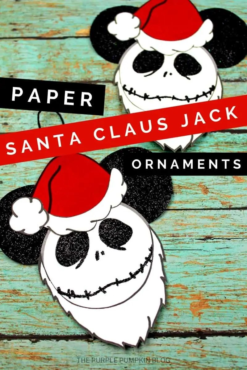 Santa Jack Skellington ornament craft