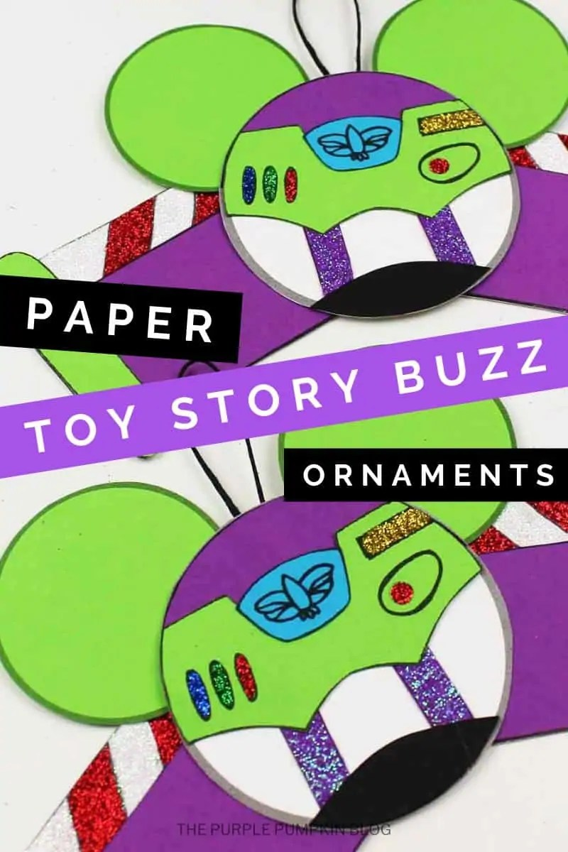 Paper Toy Story Buzz Ornaments