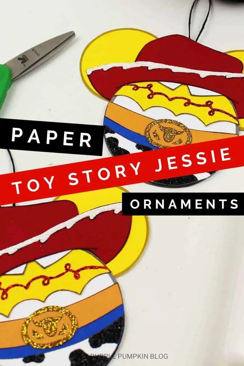 Paper toy story jessie ornaments