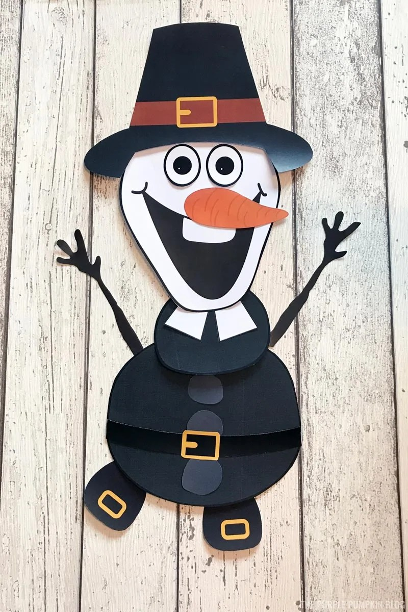 Pilgrim Olaf Craft for Thanksgiving