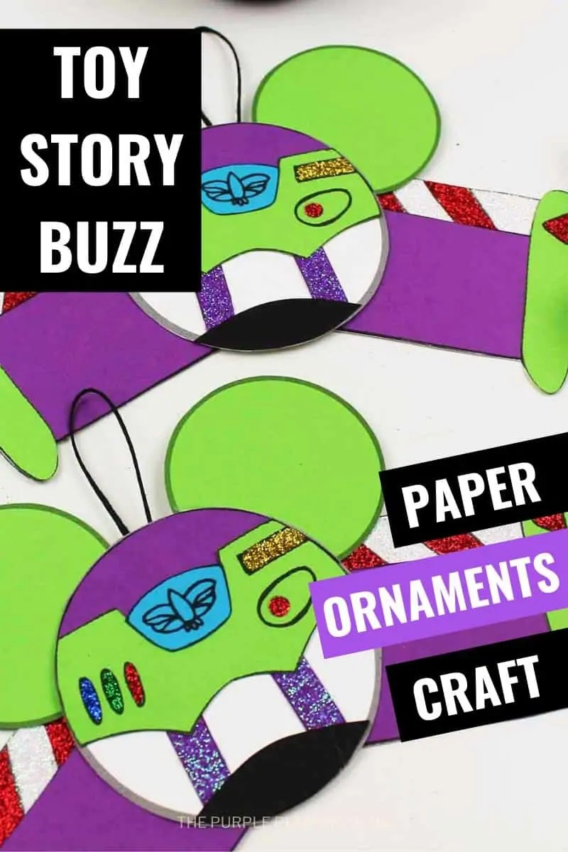Toy story Buzz Paper Ornaments Craft