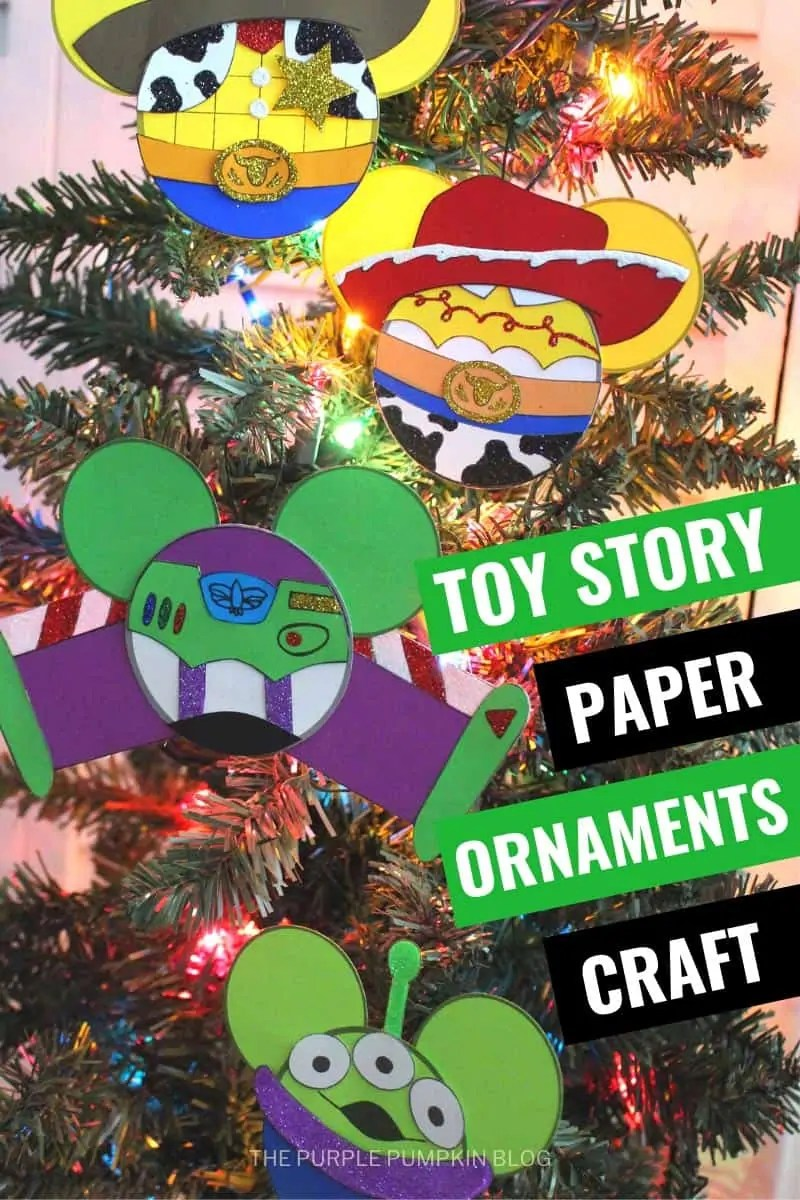 Toy Story Paper Ornaments Craft
