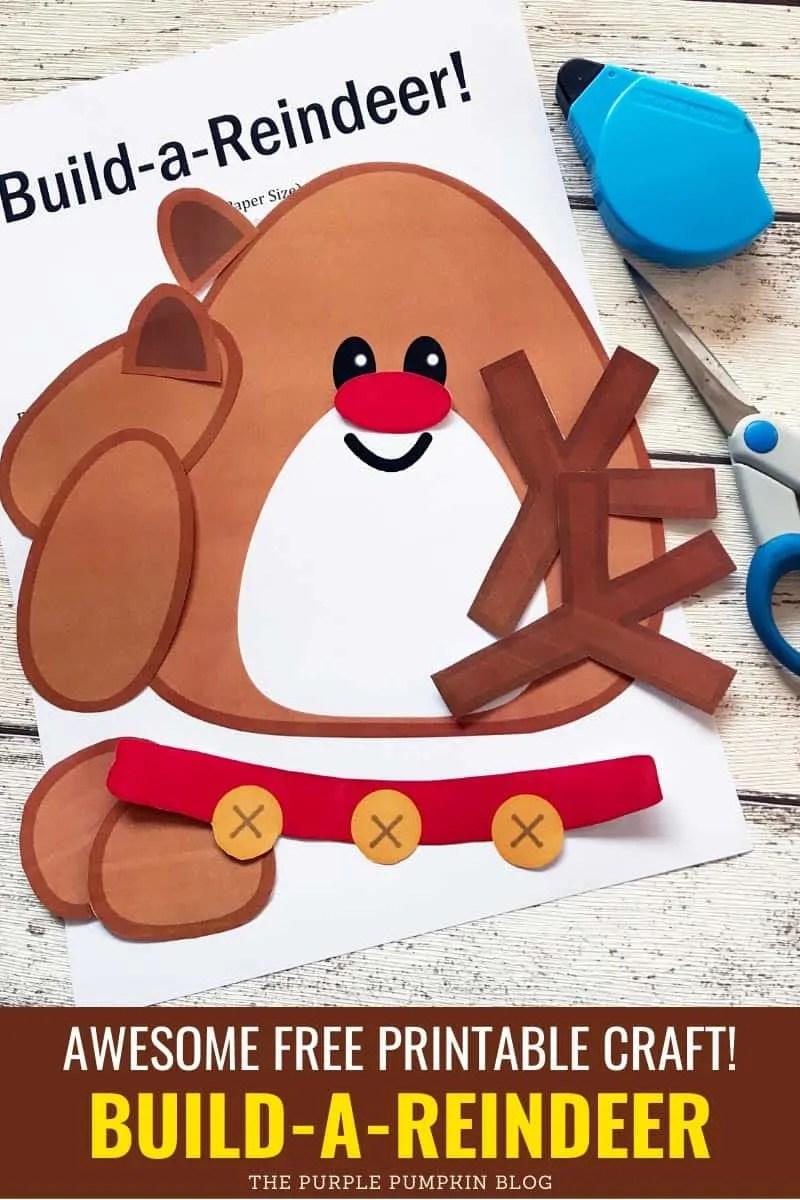 build a reindeer printable