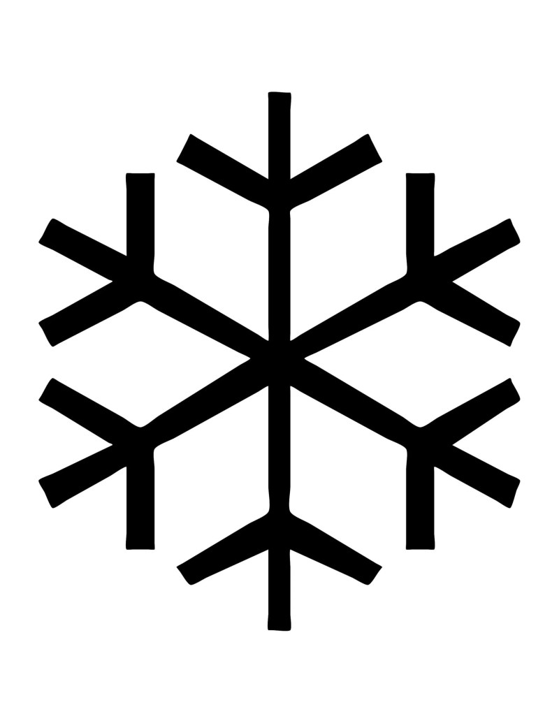 Simple Snowflake Template - Right-Click or Tap to Save to your Device