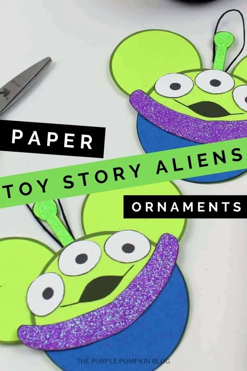 Paper Toy Story Aliens Ornaments