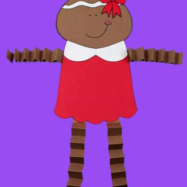 Printable Gingerbread Girl Paper Craft