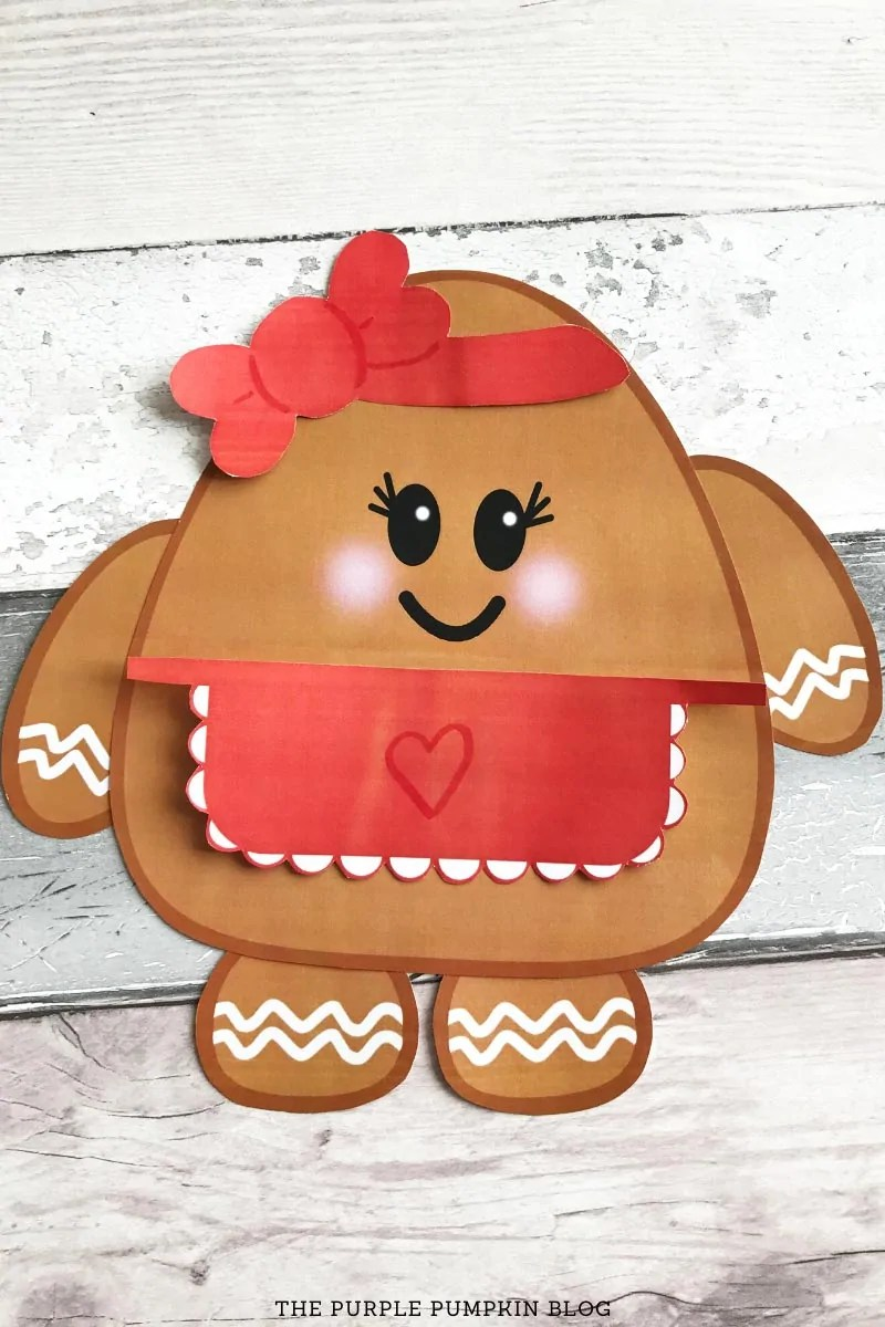 Completed Gingerbread Lady Printable