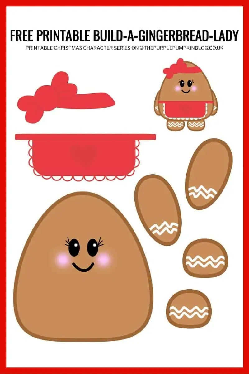 Build A Gingerbread Lady Printable