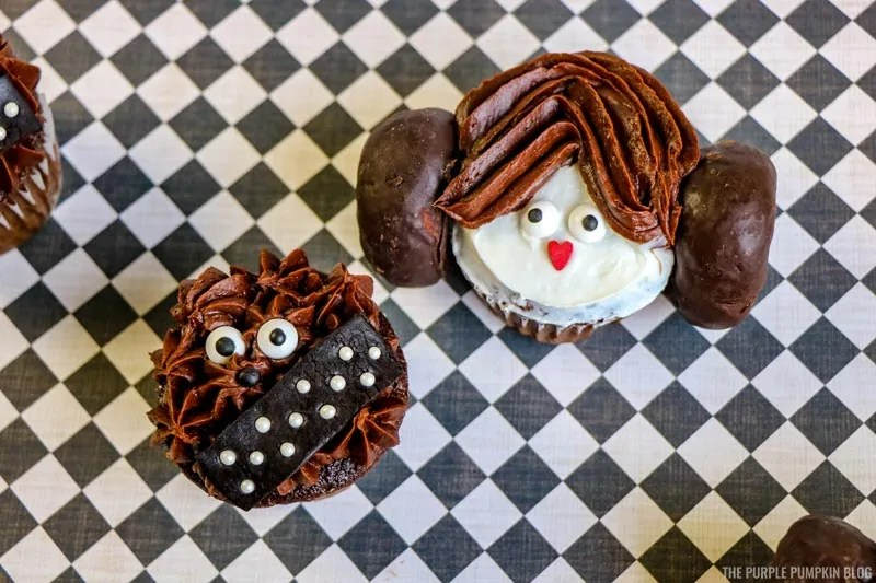 Chewbacca & Princess Leia Cupcakes