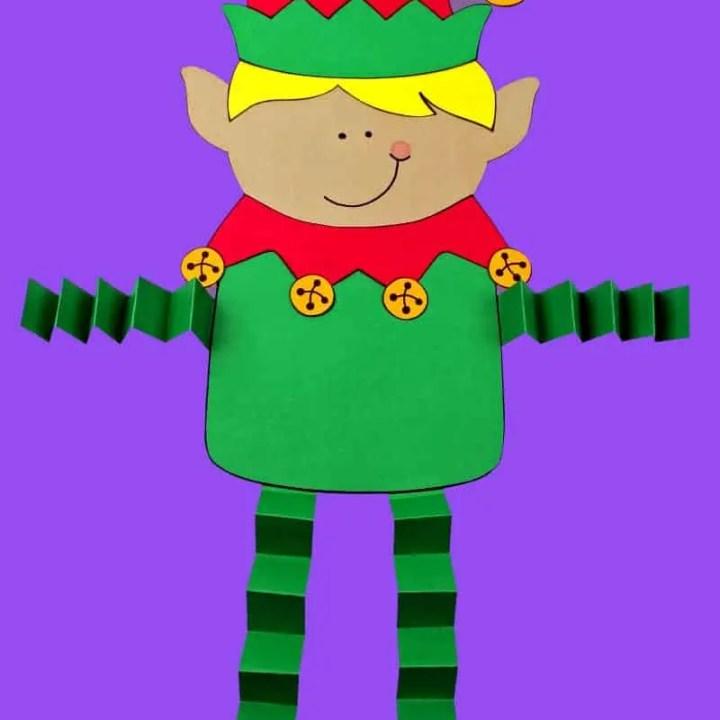 Printable Elf Boy Paper Craft