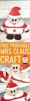 Free Printable Mrs Claus Craft
