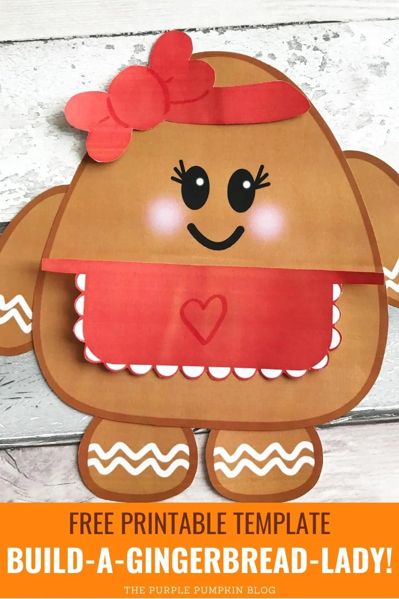 Free Printable Template Build A Gingerbread Lady