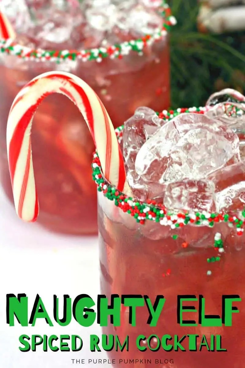 Naughty Elf Spiced Rum Cocktail