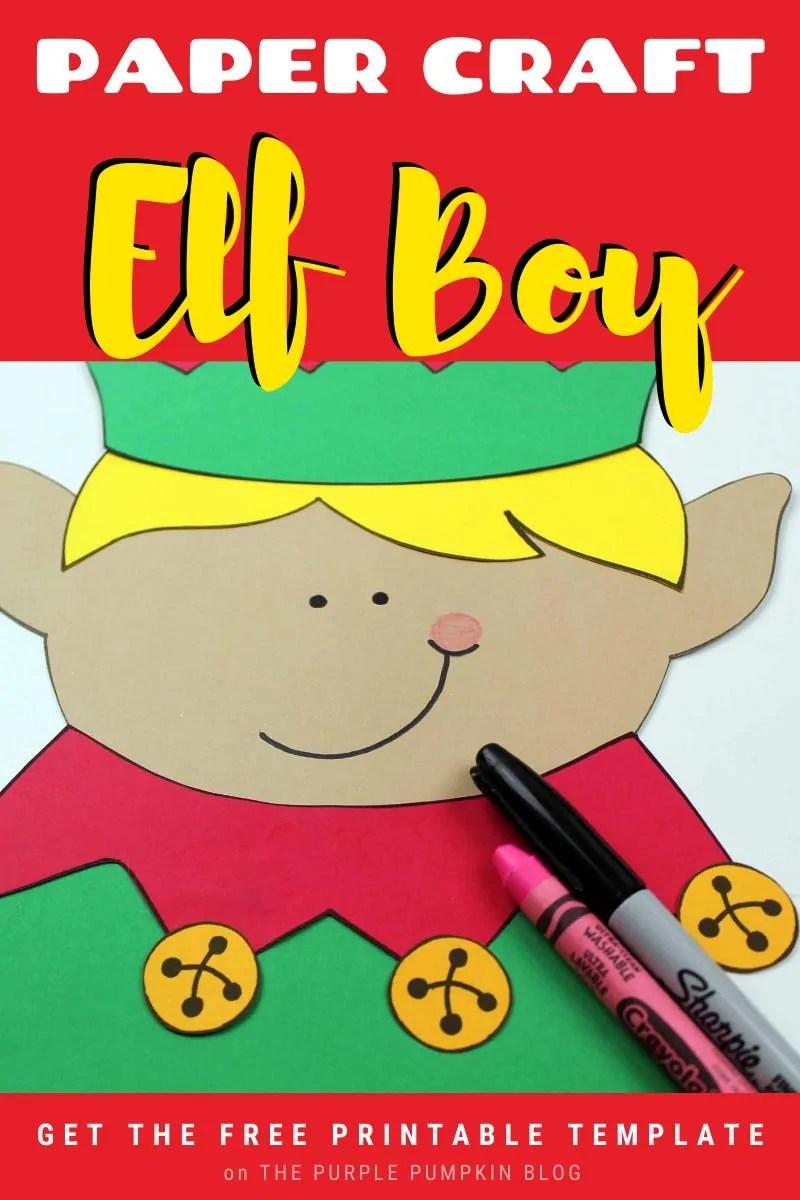 Paper Craft Elf Boy