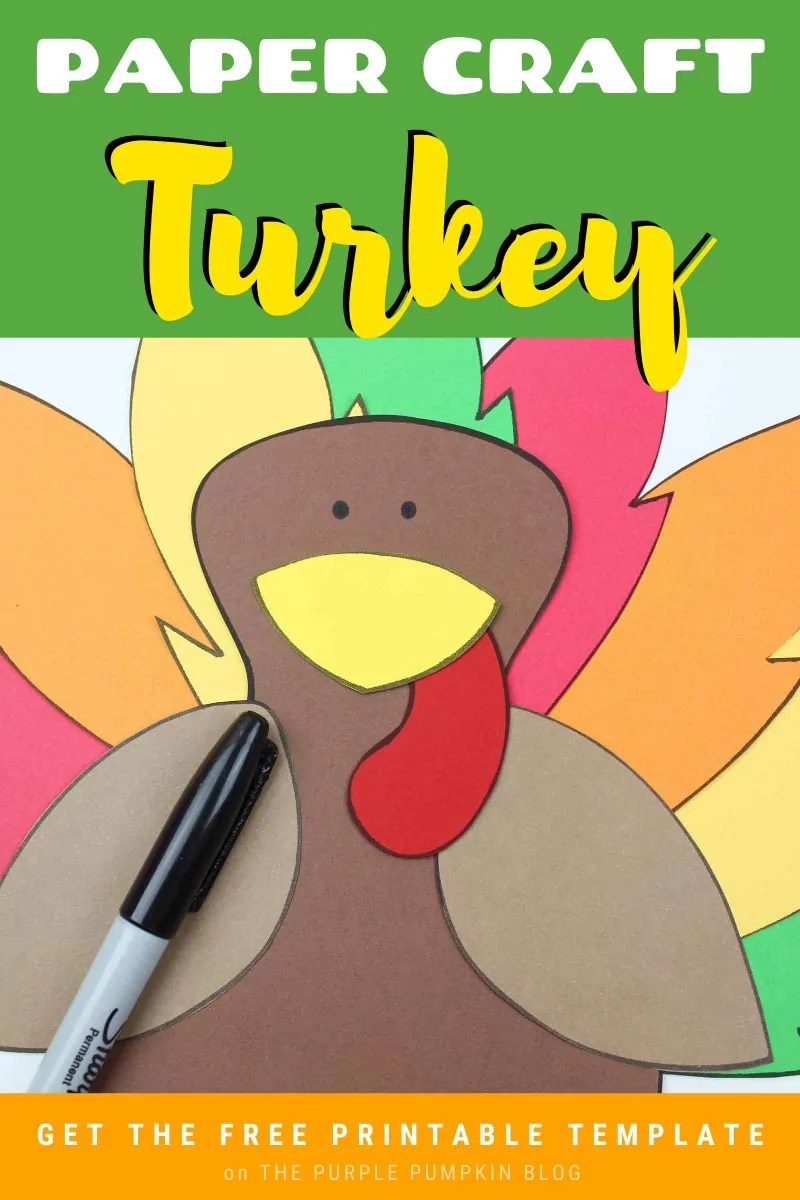 Paper Craft Turkey Free Printable Template