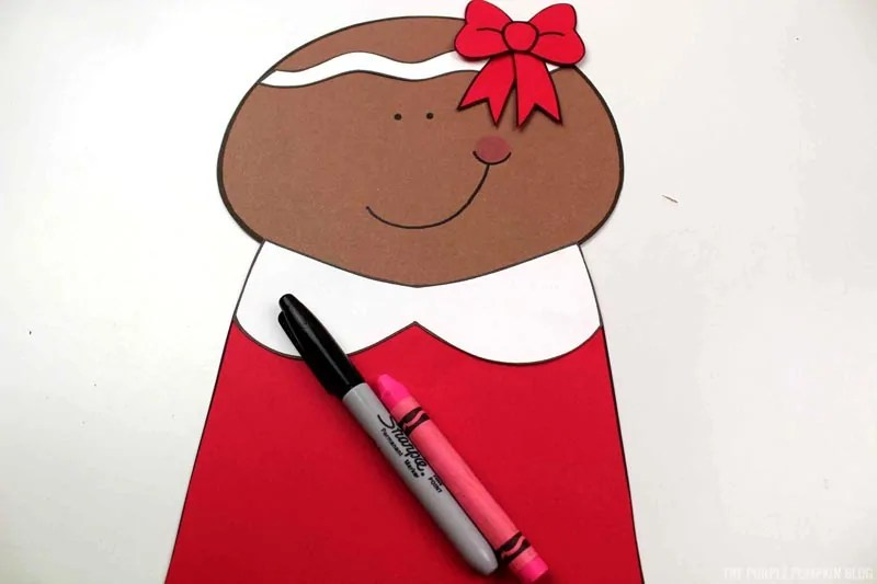 Drawing on Gingerbread Girl's Face