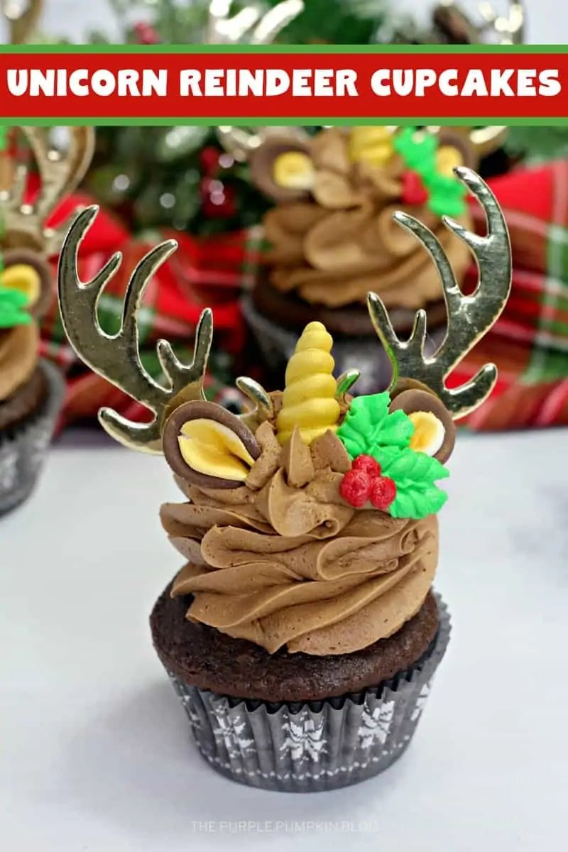 Reindeer Unicorn Cupcake