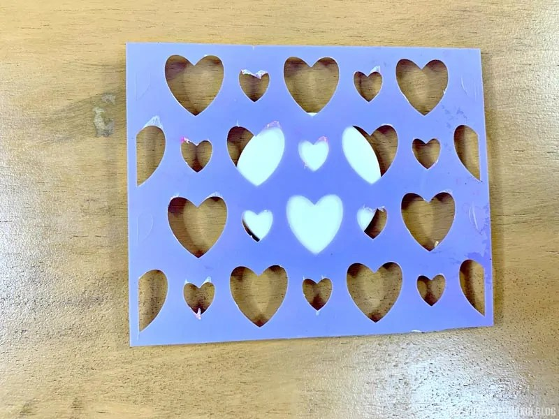 Heart Stencil for Cupcakes