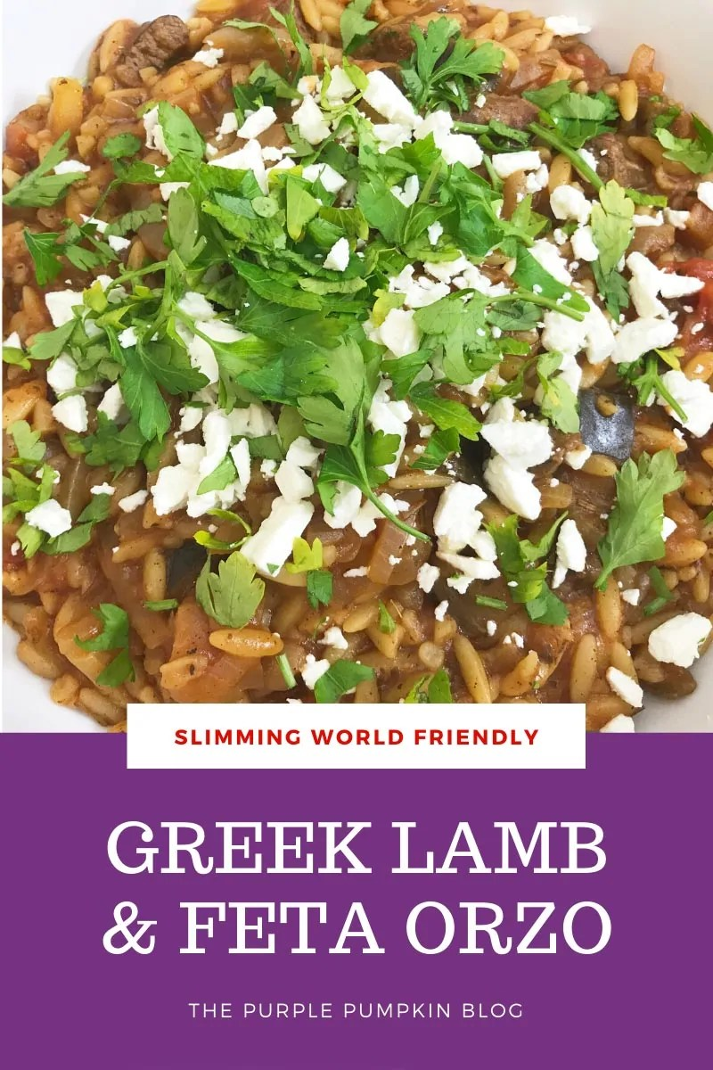 Slimming World Friendly Greek Lamb & Feta Orzo