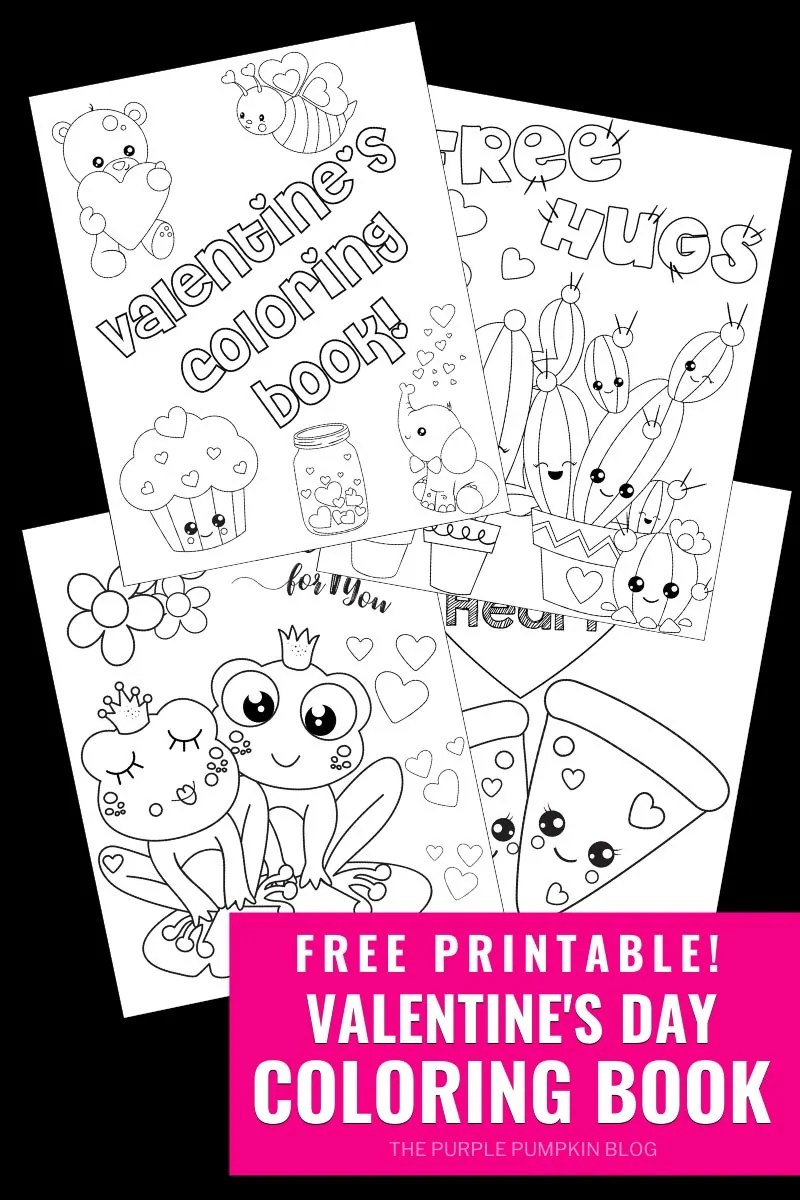 Free Printable Valentine's Day Colouring Book