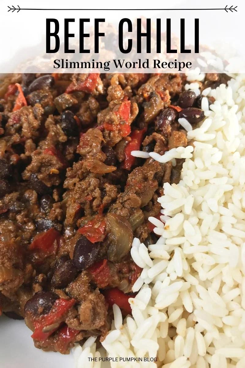 Beef Chilli Slimming World Recipe