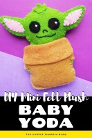 DIY Mini Felt Plush Baby Yoda
