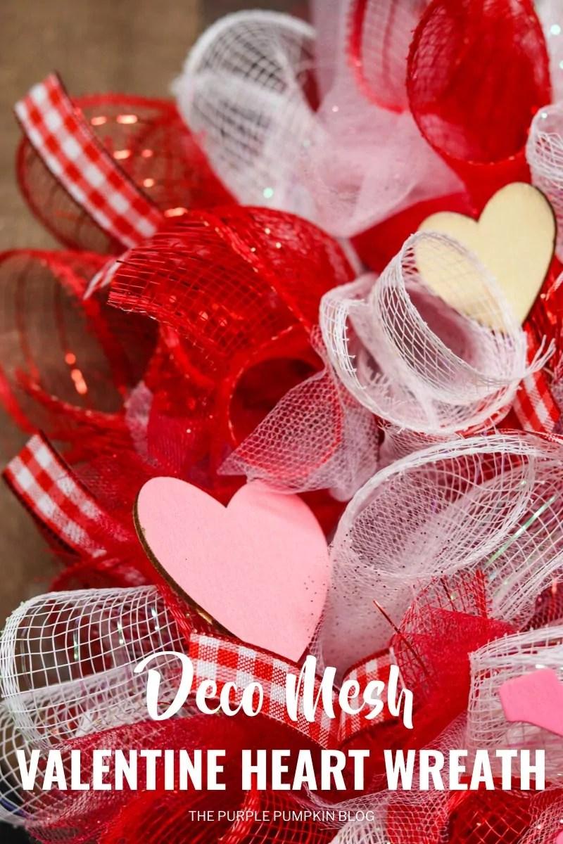 Deco Mesh Valentine Heart Wreath