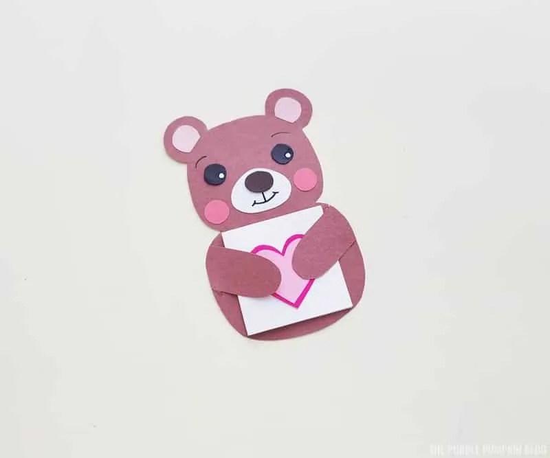 Finished Bear Card