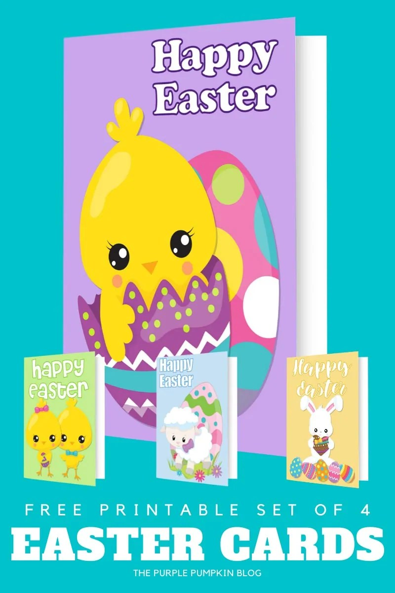 Free Easter Cards Printables (set of 4)