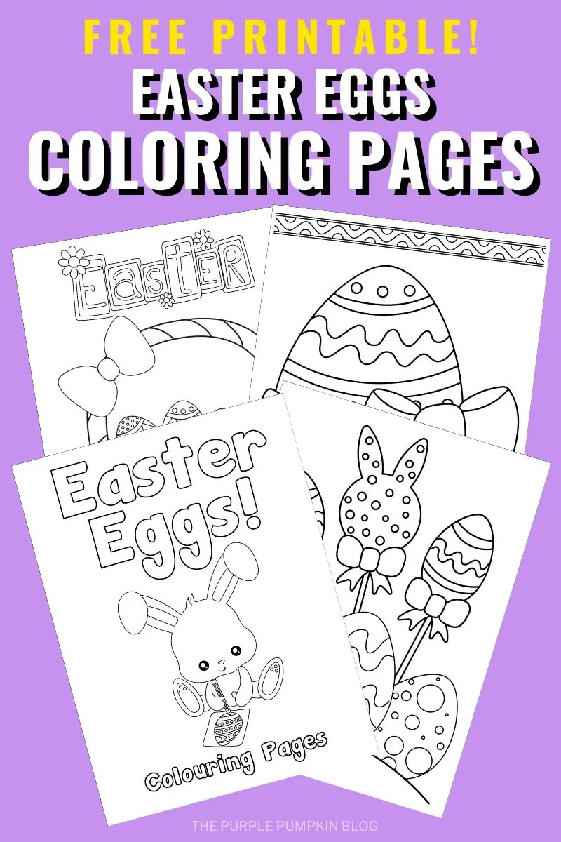Free Printable Easter Eggs Coloring Pages
