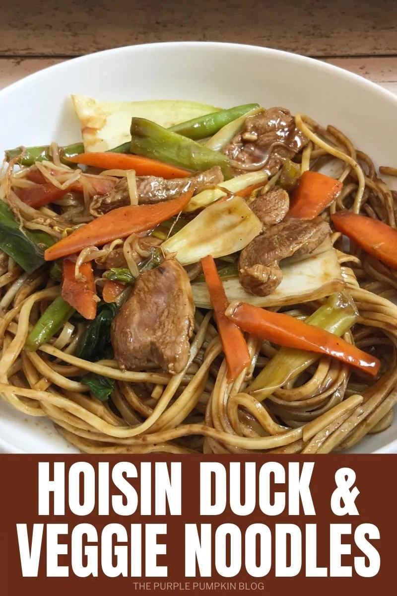 Hoisin Duck & Veggie Noodles