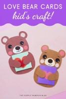 Love Bear Cards Kids Craft!