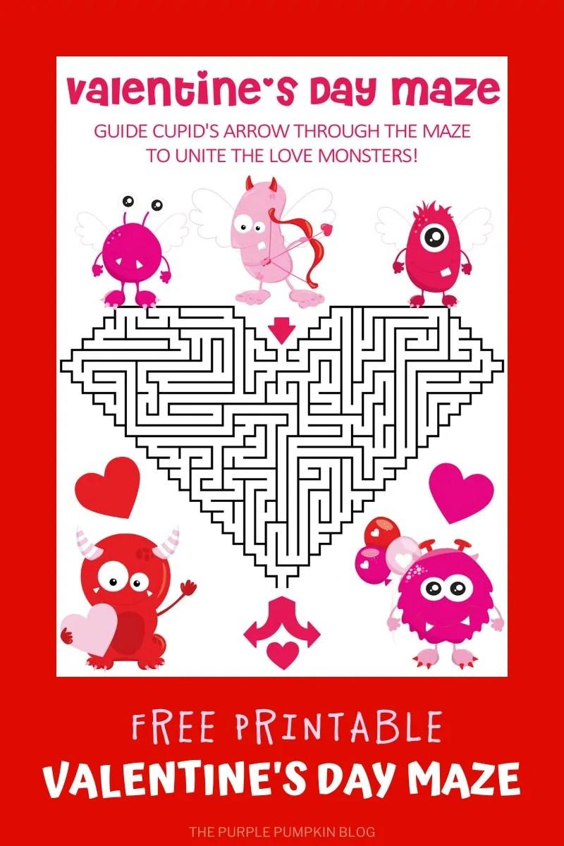Valentine's Day Maze - unite the love monsters!