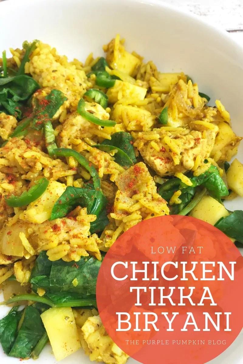 Low Fat Chicken Tikka Biryani