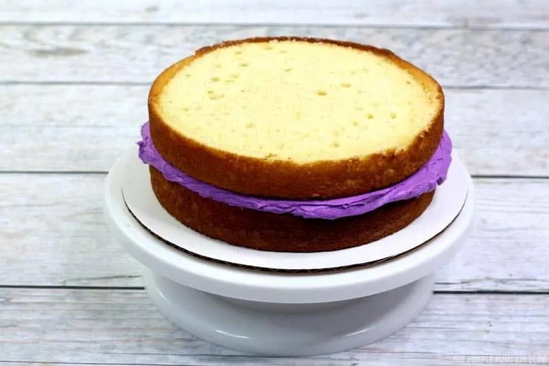 Mardi Gras Cake Layer 2