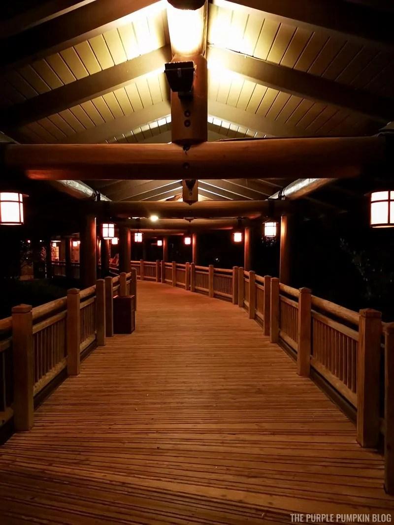 Boulder Ridge Walkway at Night