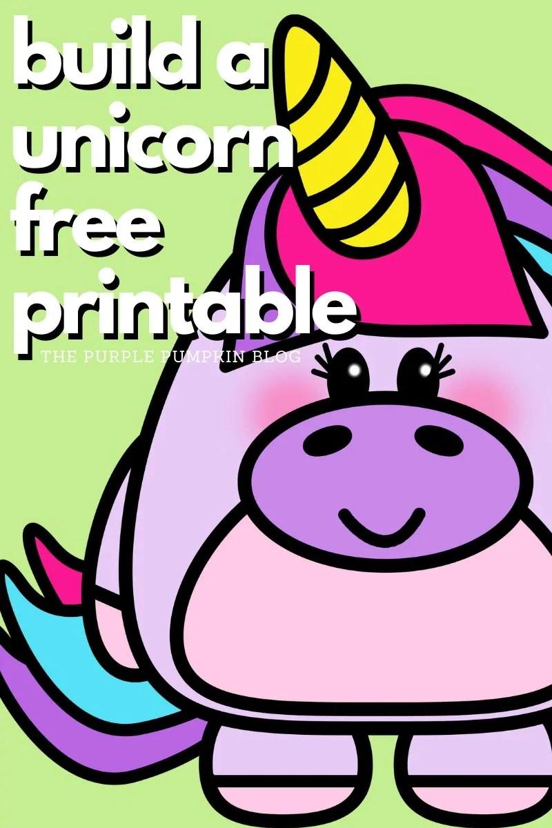Build A Unicorn Free Printable
