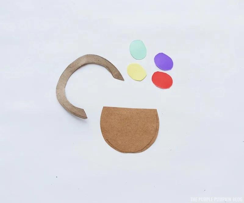 Easter Basket Paper Craft Step (1)