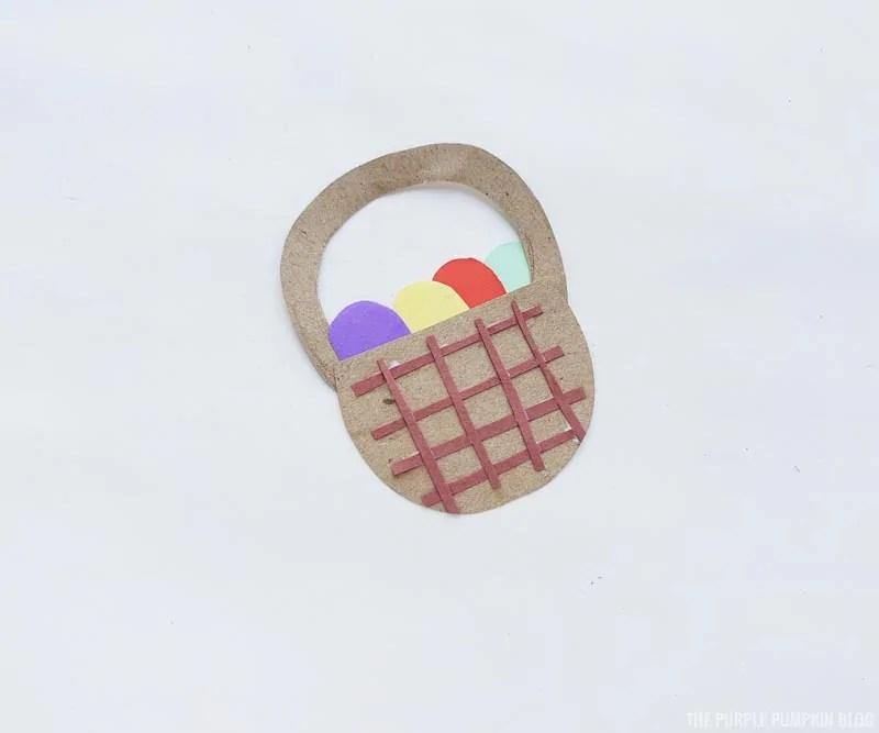 Easter Basket Paper Craft Step (5)